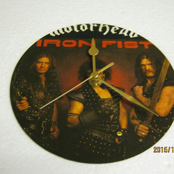 "Motorhead - ""Iron Fist"" Vinyl Record Sleeve Wall Clock"