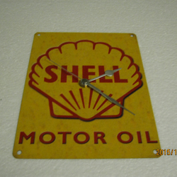 Shell Motor Oil Metal Enamel Wall Clock