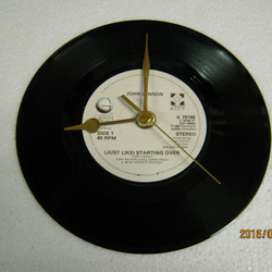 "John Lennon - ""(Just Like) Starting Over"" Record Wall Clock"