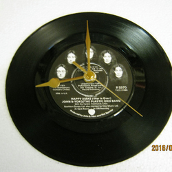 "John & Yoko - ""Happy Xmas (War is Over)"" Record Wall Clock"