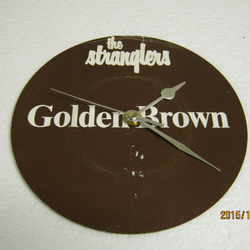 "The Stranglers - ""Golden Brown"" Record Sleeve Wall Clock"