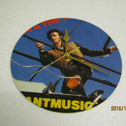 "Adam And The Ants - ""Antmusic"" Record Sleeve Wall Clock"