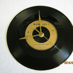 "Bon Jovi - ""Livin' On A Prayer"" Record Wall Clock"