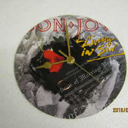 "Bon Jovi - ""Living In Sin"" Record Sleeve Wall Clock"