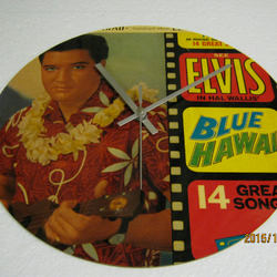 "Elvis Presley - ""Blue Hawaii"" Record Sleeve Wall Clock"