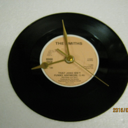 "The Smiths - ""That Joke Isn't Funny Anymore"" Record Wall Clock"