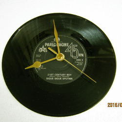 "Sigue Sigue Sputnik - ""21st Century Boy"" Record Wall Clock"