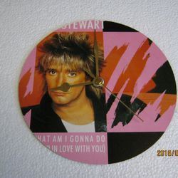 "Rod Stewart - ""What Am I Gonna Do (I'm So In Love)"" Record Sleeve Wall Clock"