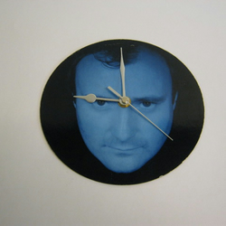 "Phil Collins - ""Sussudio"" 7"" Vinyl Record Sleeve Wall Clock"