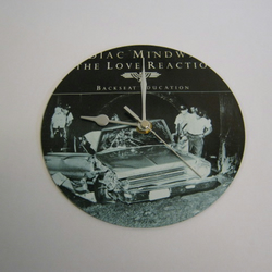 "Zodiac Mindwarp - ""Backseat Education"" 7"" Vinyl Record Sleeve Wall Clock"