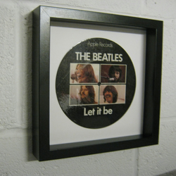 "The Beatles -  ""Let It Be"" Wall Framed 7"" Record"