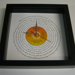 "Billy Joel - ""You're My Home"" Framed Spiraling Lyrics Wall Clock"