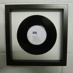 "Peter Gabriel & Kate Bush - ""Don't Give Up"" Wall Framed 7"" Record"