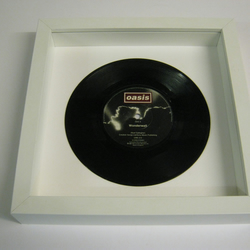 "Oasis - ""Wonderwall"" Wall Framed 7"" Record"