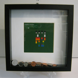 "Coldplay - ""Fix You"" Wooden Framed Money Box"