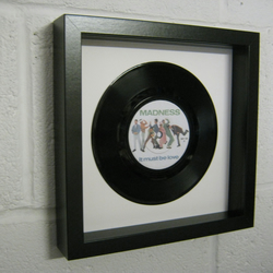 "Madness - ""It Must Be Love"" Wall Framed 7"" Record"