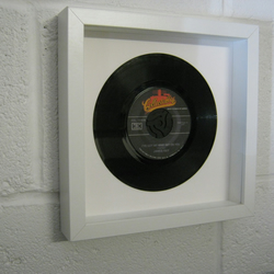 "James Ray - ""Got My Mind Set On You"" Wall Framed 7"" Record"