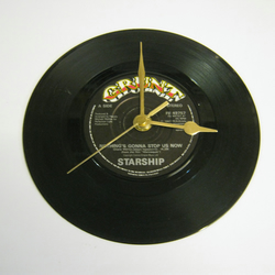 "Starship - ""Nothing's Gonna Stop Us Now"" 7"" Vinyl Record Wall Clock"