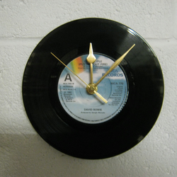 "David Bowie - ""Cat People (Putting Out The Fire)"" 7"" Vinyl Record Wall Clock"
