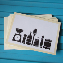 Utensils - pack of 3 note cards