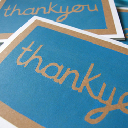 Thankyou - pack of 3 screenprinted note cards