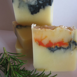 Handmade Aromatherapy Shea Butter Man Soap with Rosemary & Cedarwood