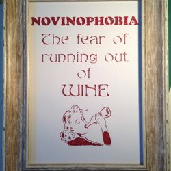 Paper Cut, Novinophobia, Fear Of Running Out Of Wine! Unframed.
