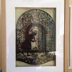 Large Paper Cut The Secret Garden. Box Frame