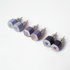 color pencil earing studs, the hexagon version in purple