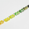 colour pencil ear studs, the yellow and green series
