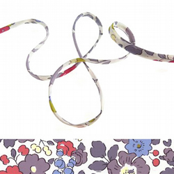 Betsy Pierre de Lune - Liberty fabric spaghetti cord, jewellery supplies