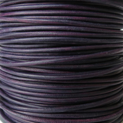 5xm leather cord in 2mm, dark purple leather cord for bracelet making