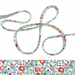 Eloise B - Liberty fabric spaghetti cord, jewellery supplies