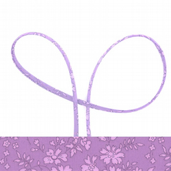 Capel B - lilac Liberty fabric spaghetti cord, jewellery making