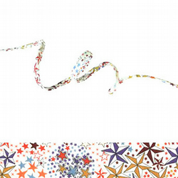 Adelajda Multicolore - Liberty fabric spaghetti cord, jewellery supplies