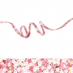 Mitsi Valeria Orchidée rose - Liberty fabric spaghetti cord, jewellery making