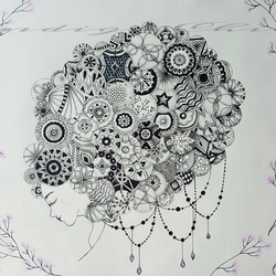 Art Drawing Mandala Hair Drawing