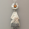 Oak Leaf Pendant with Sunstone