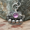 Little Viking Ship Pendant with Amethyst