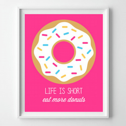 Instant Download - Donut Quote Pink