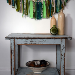 3 Metres Upcycled Bohemian Fabric Tassel & Pompom Garland 'Heligan'