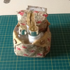 Matching fabric bowl and tissue holder