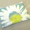 Turquoise coin purse with daisy pattern, SALE