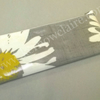 Pencil case in grey with daisy pattern, HALF PRICE SALE