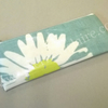 Pencil case in turquoise with daisy pattern, HALF PRICE SALE