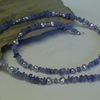 AA grade Genuine Tanzanite & Freshwater Pearl  Necklace 925 Sterling Silver