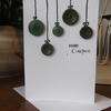 Button Christmas Card (Green)