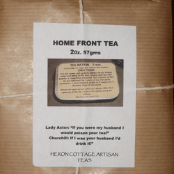 "HOME FRONT TEA -2oz. Wartime ration. ""Tea is more important than ammunition"""