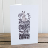 "Winter Drifts ""Hare"" greetings card, Christmas card, blank inside"