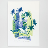 """Sea Holly House"" screen print"